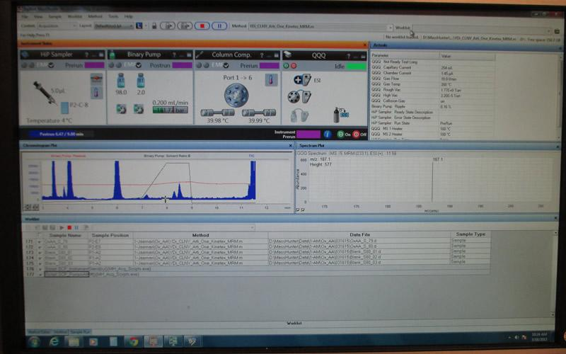 Agilent  Mass Spec Screen Shot