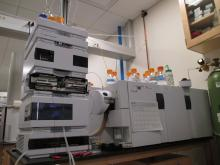 Agilent 6410 Triple Quad (QQQ) mass spec with HPLC